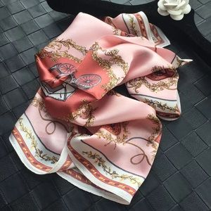 Fashion from China-Silk scarf with flower prints